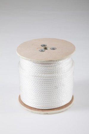画像1: ナイロンソリッドロープ12打 ホワイト 8-16mm×100m ボビン巻き