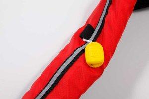 画像2: インターコム ロゴ入り ウエストポーチ 手動ライフジャケット(JCI検定品)レッド