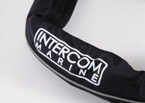 画像2: インターコム ロゴ入り ウエストポーチ 手動ライフジャケット(JCI検定品)  ブラック