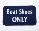 """ウエルカム マット ネイビー""""Boat Shoes Only"""""""