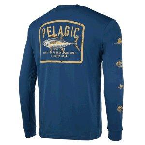 画像1: ペラジック アクアテック ゲームフィシング 長袖Tシャツ