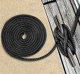 画像2: ◆アイスプライス加工◆ダブルブレイド ポリエステル ブラックラインロープ  (2)
