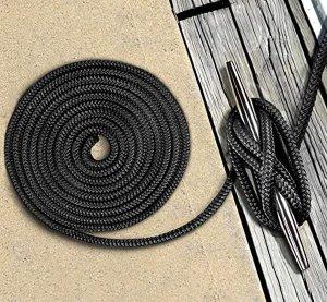 画像2: ◆アイスプライス加工◆ダブルブレイド ポリエステル ブラックラインロープ