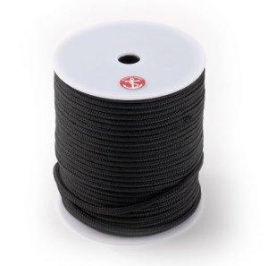 画像1: ダブルブレイド ポリエステル ブラックラインロープ 100mボビン巻き